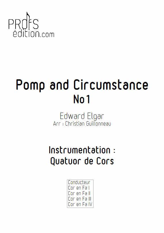 Pomp and Circumstance - Quatuor de Cors - ELGAR E. - page de garde