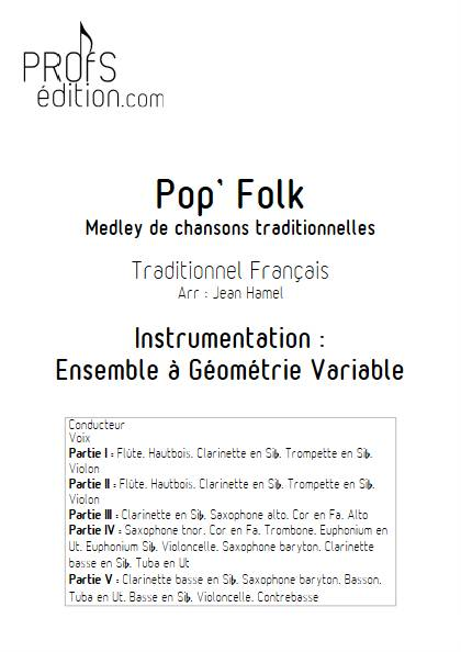 Pop and Folk - Ensemble Variable - TRADITIONNEL FRANCAIS - page de garde