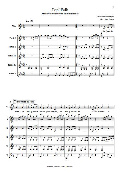 Pop and Folk - Ensemble Variable - TRADITIONNEL FRANCAIS - Partition