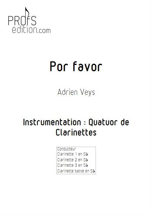 Por Favor - Quatuor de Clarinettes - VEYS A. - page de garde