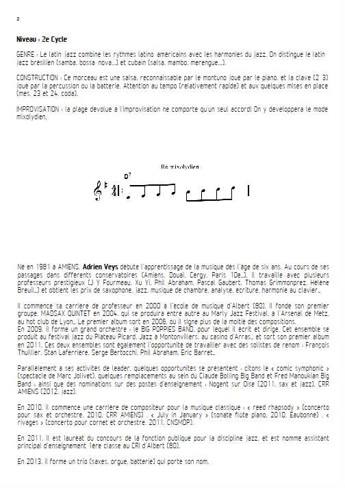 Por Favor - Quatuor de Clarinettes - VEYS A. - Fiche Pédagogique