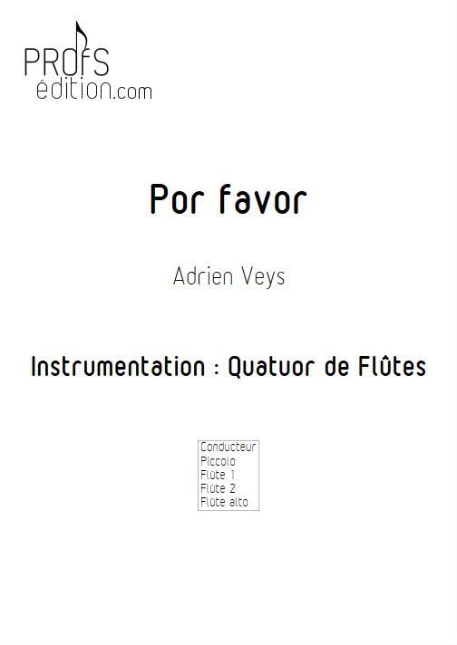 Por Favor - Quatuor de Flûtes - VEYS A. - page de garde