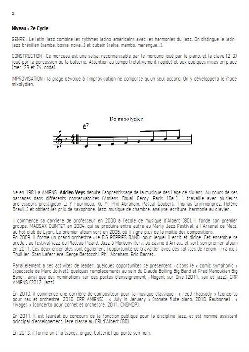 Por Favor - Quatuor de Flûtes - VEYS A. - Fiche Pédagogique