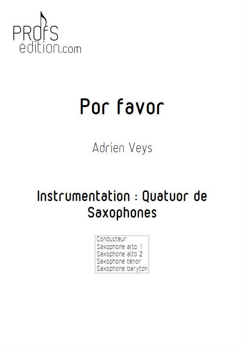 Por Favor - Quatuor de Saxophones - VEYS A. - page de garde