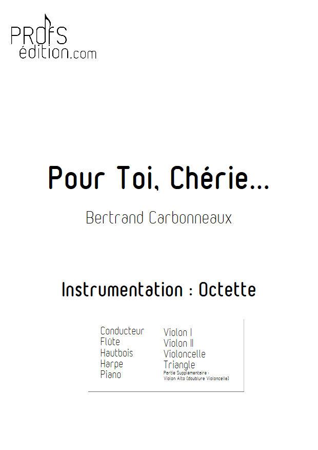 Pour Toi, Chérie... - Octette - CARBONNEAUX B. - page de garde
