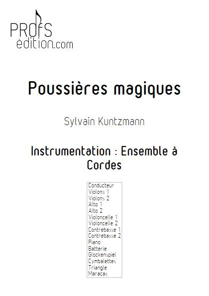 Poussières Magiques - Ensemble à Cordes - KUNTZMANN S. - page de garde