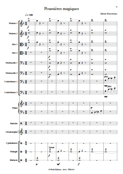 Poussières Magiques - Ensemble à Cordes - KUNTZMANN S. - Partition