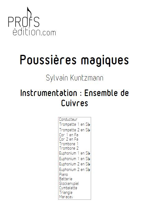 Poussières Magiques - Ensemble de Cuivres - KUNTZMANN S. - page de garde