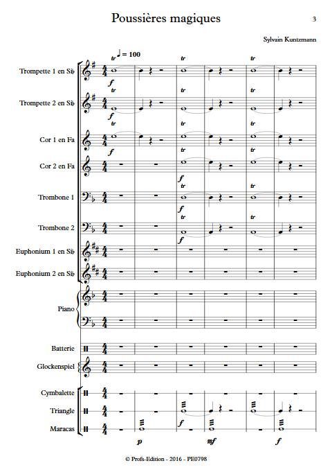 Poussières Magiques - Ensemble de Cuivres - KUNTZMANN S. - Partition