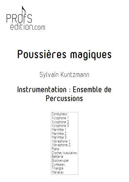 Poussières Magiques - Ensemble de Percussions - KUNTZMANN S. - page de garde