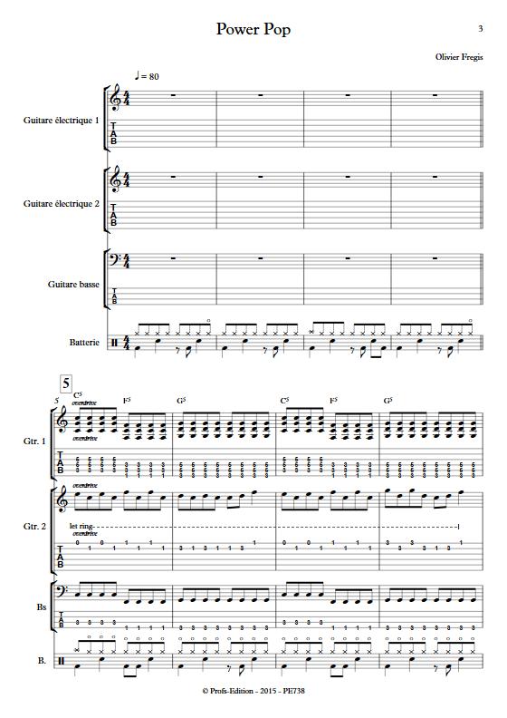 Power Pop - Ensemble de Musiques Actuelles - FREGIS O. - app.scorescoreTitle