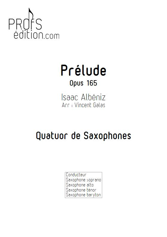 Prélude - Quatuor de Saxophones - ALBENIZ I. - page de garde