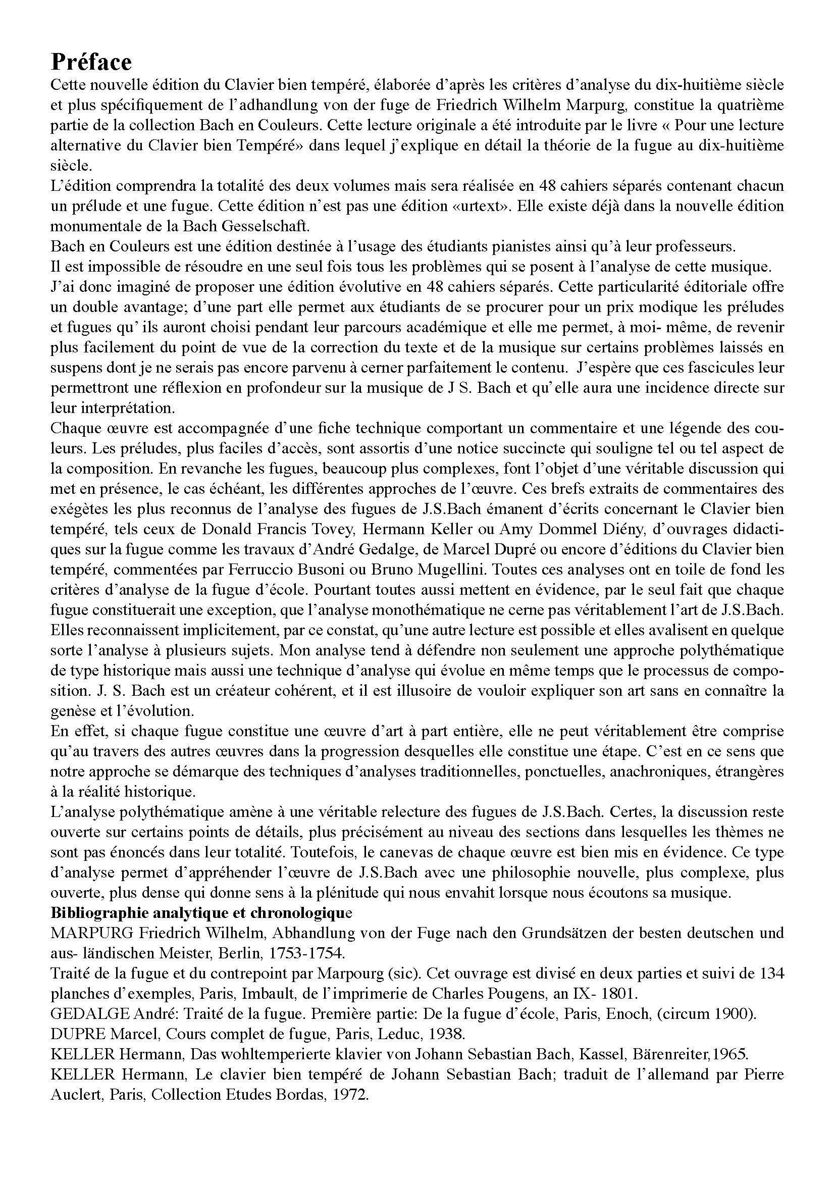 Pour une lecture alternative du Clavier Bien Tempéré - Analyse - CHARLIER C. - Fiche Pédagogique