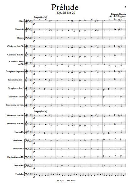 Prélude Op. 28 No 20 - Orchestre d'Harmonie - CHOPIN F. - app.scorescoreTitle