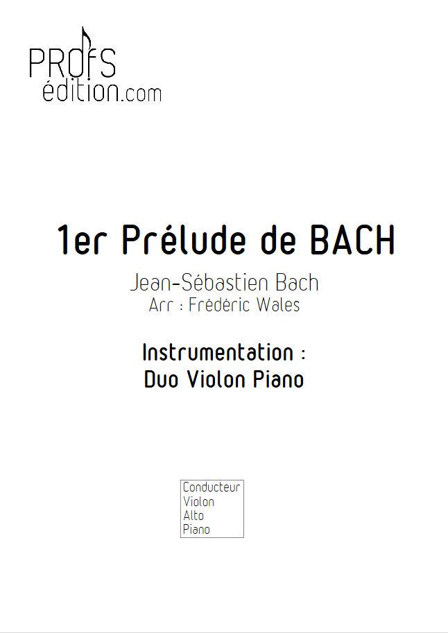 1er Prélude - Violon ou Alto & Piano - BACH J. S. - page de garde