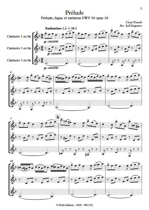 Prélude - Trio de Clarinettes - FRANCK C. - app.scorescoreTitle