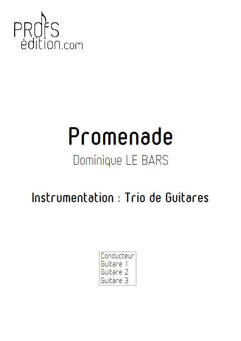 Promenade - Trios Guitare - LE BARS D. - page de garde