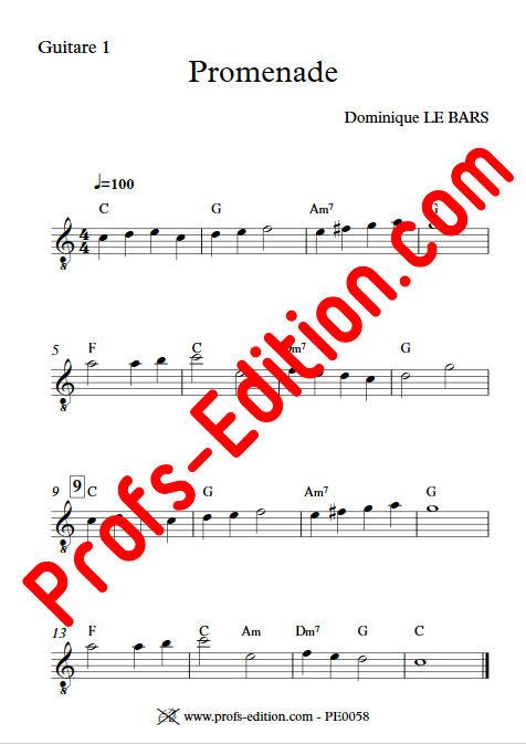 Promenade - Trios Guitare - LE BARS D. - app.scorescoreTitle