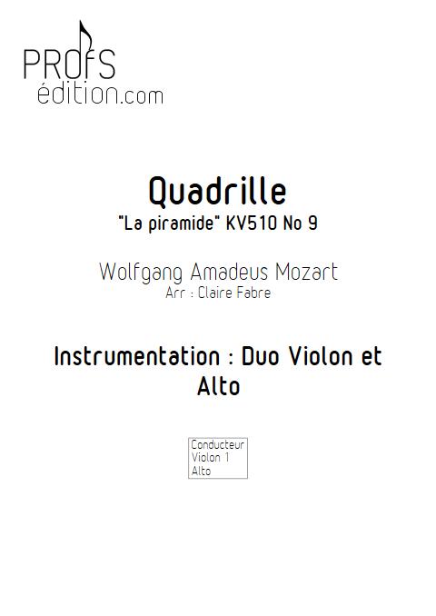 Quadrille - Duo Violon et Alto - MOZART W. - page de garde