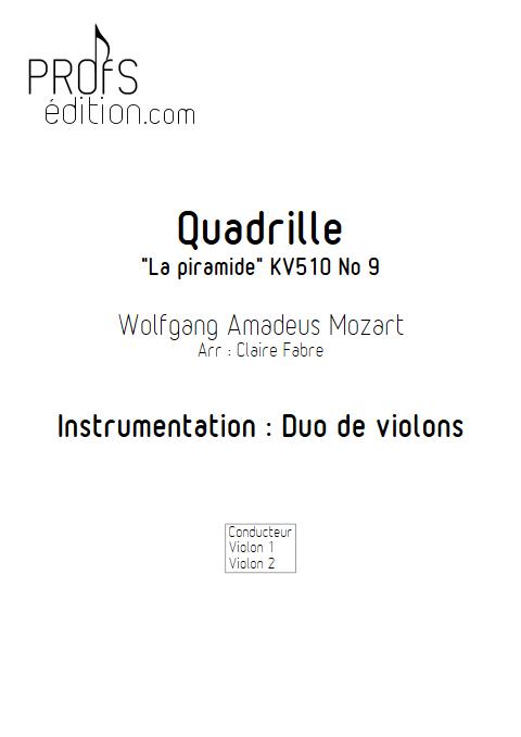 Quadrille - Duo Violons - TCHAIKOVSKI P. I. - page de garde