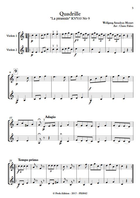 Quadrille - Duo Violons - TCHAIKOVSKI P. I. - Partition