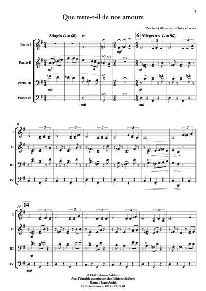 Que reste-t-il de nos amours - Ensemble Variable - TRENET C. - app.scorescoreTitle