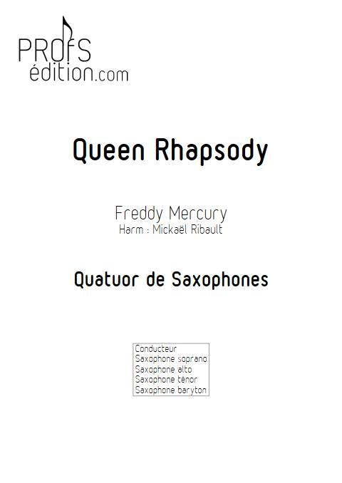 Queen Rhapsody - Quatuor de Saxophones - QUEEN - page de garde