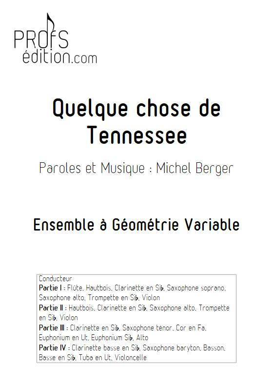 Quelque chose de tennesse - Ensemble Variable - BERGER M. - page de garde