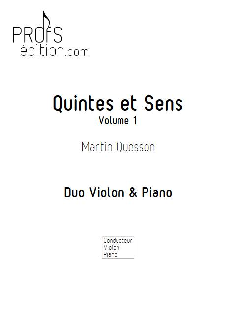 Quintes et Sens - Recueil 1 - Violon Piano - QUESSON M. - page de garde