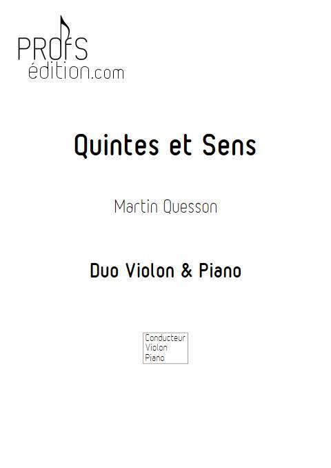 Quintes et Sens - Recueil 2 - Violon Piano - QUESSON M. - page de garde