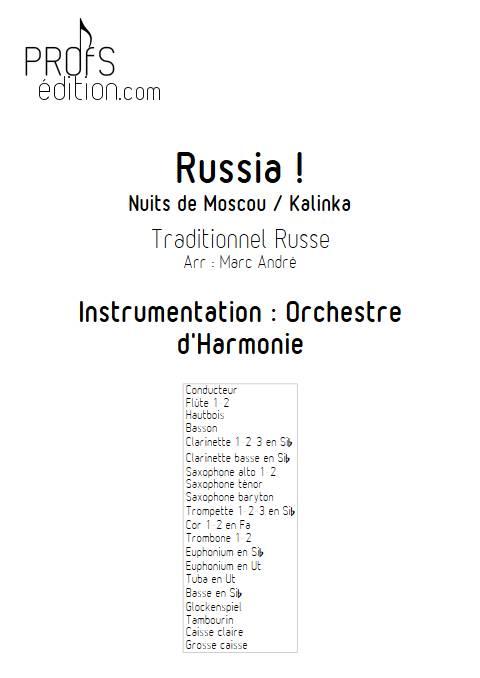 Russia - Orchestre d'Harmonie - TRADITIONNEL RUSSE - page de garde