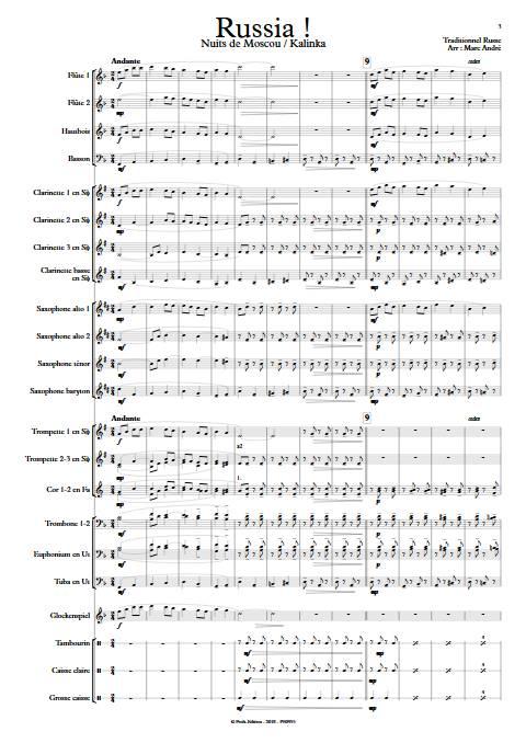 Russia - Orchestre d'Harmonie - TRADITIONNEL RUSSE - app.scorescoreTitle