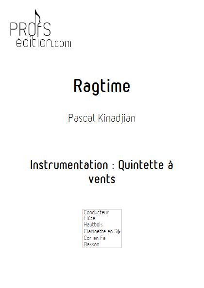 Ragtime - Quintette à vents - KINADJIAN P. - page de garde