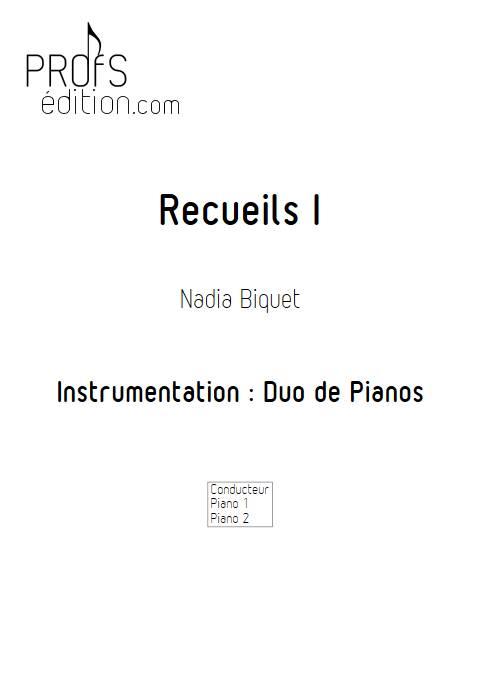 Recueils 1 - Duo de Pianos - BIQUET N. - page de garde