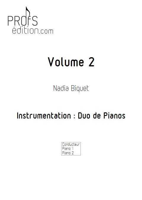 Recueils 2 - Duo de Pianos - BIQUET N. - page de garde