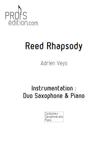 Reed Rhapsody - Saxophone et Piano - VEYS A. - page de garde