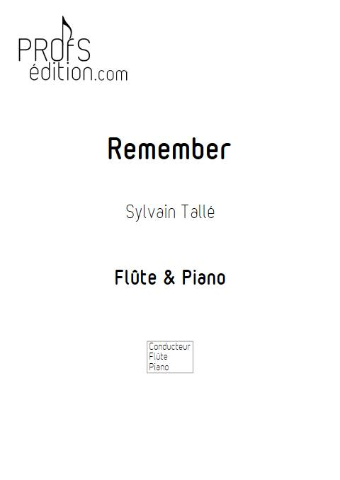 Remember - Flûte & Piano - TALLE S. - page de garde