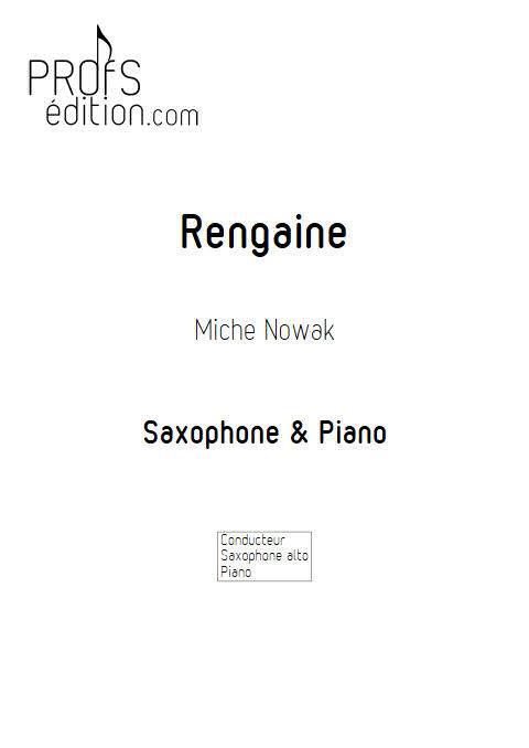 Rengaine - Saxophone Piano - NOWAK M. - page de garde