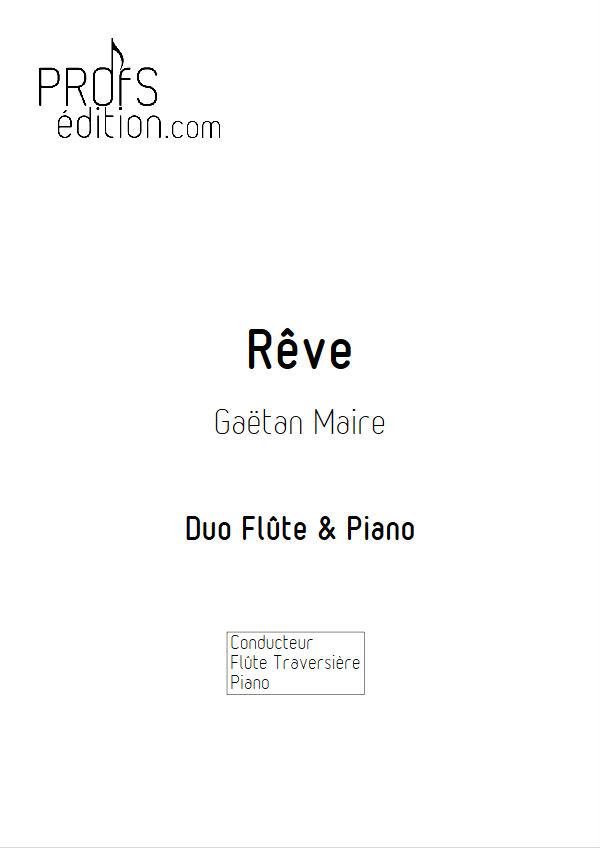 Rêve - Duo Flûte & Piano - MAIRE G. - page de garde