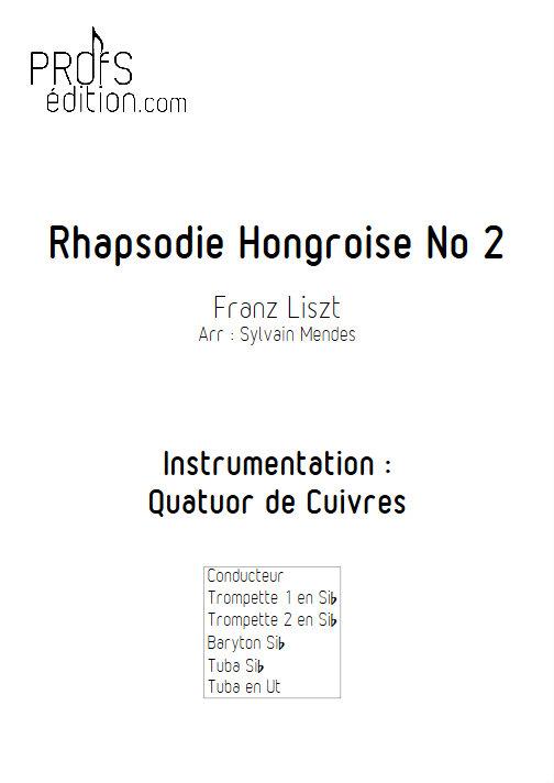 Rhapsodie Hongroise N°2 - Quatuor Cuivres - LISZT F. - page de garde