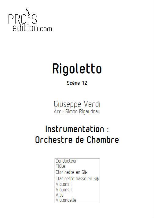 Rigoletto (Scène 12) - Orchestre de Chambre - VERDI G. - page de garde