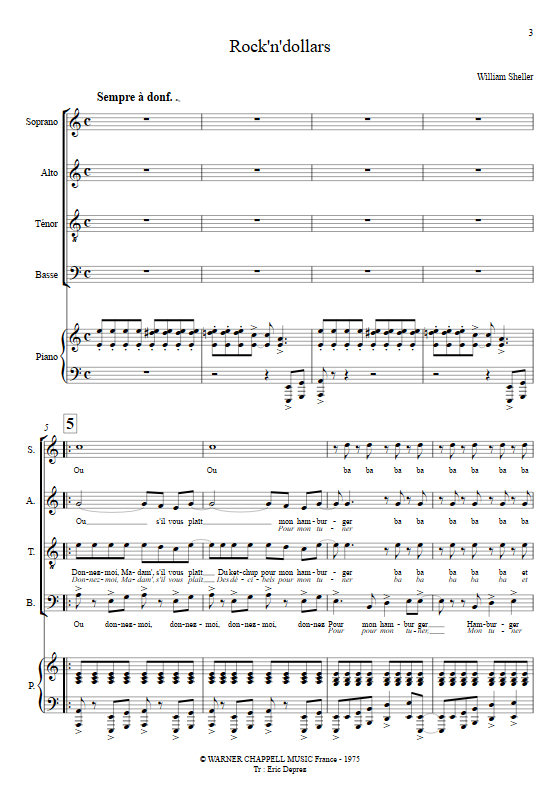 Rock'N'Dollars - Chœur & Piano - SHELLER W. - app.scorescoreTitle
