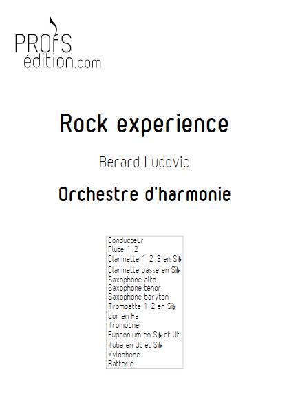Rock Experience - Orchestre d'harmonie - BERARD L. - page de garde
