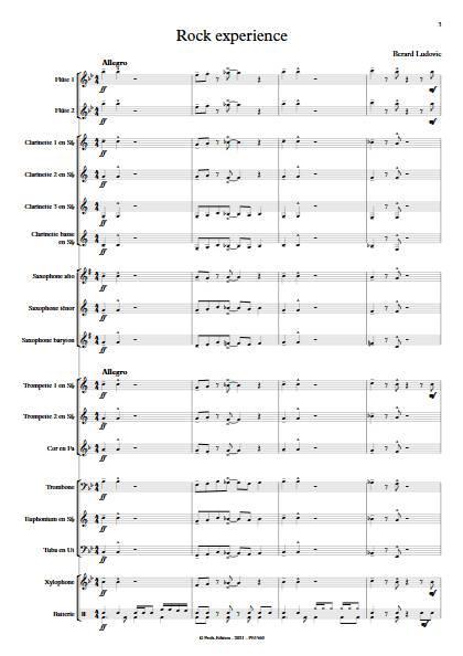 Rock Experience - Orchestre d'harmonie - BERARD L. - app.scorescoreTitle
