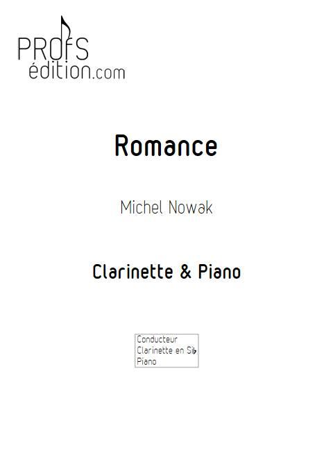 Romance pour clarinette - Clarinette & Piano - NOWAK M. - page de garde