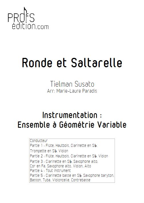 Ronde et Saltarelle - Ensemble à Géométrie Variable - SUSATO T. - page de garde