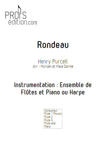 Rondeau - Ensemble de Flûtes - TRADITIONNEL - page de garde