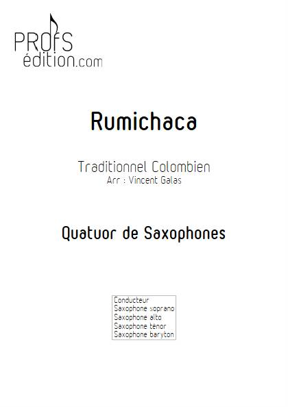 Rumichaca - Quatuor de Saxophones - TRADITIONNEL COLOMBIEN - page de garde