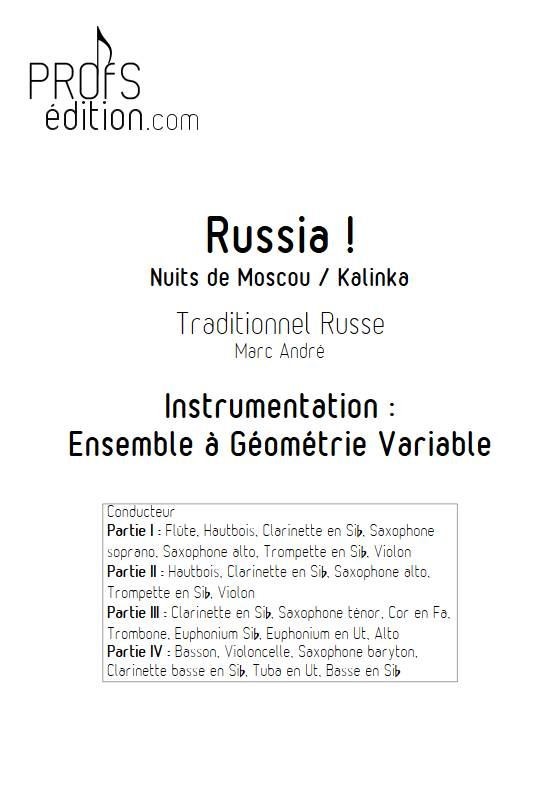 Russia - Ensemble Variable - TRADITIONNEL RUSSE - page de garde