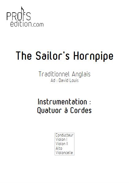 Sailor Hornpipe - Quatuor à Cordes - TRADITIONNEL ANGLAIS - page de garde